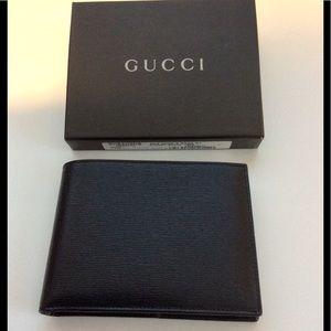 🎉HP🎉Gucci Black Leather Men's Wallet